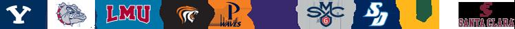 Image of all ten West Coast Conference school logos